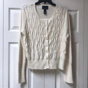 NWT Cynthia Rowley Angora bland Sweater sequins L